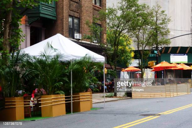 Manhattan outdoor dining only during Phase Two reopening, Casa Mono. July 3, 2020.