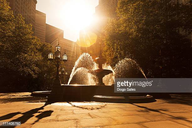 manhattan - fountain stock pictures, royalty-free photos & images