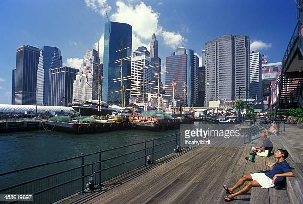 manhattan - south street seaport stock pictures, royalty-free photos & images