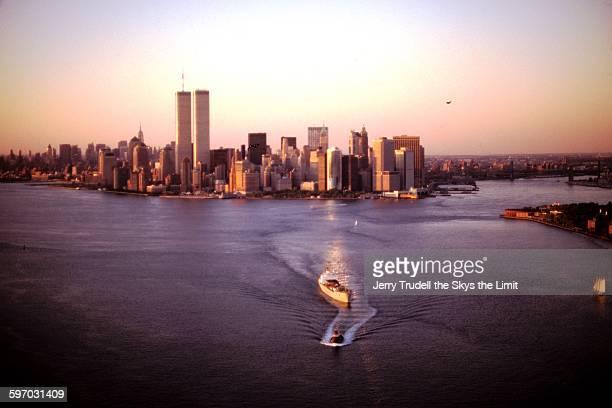 Manhattan skyline and harbor