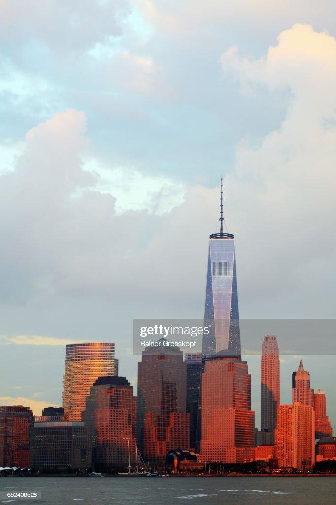 Manhattan Skyline at sunset : Stock-Foto