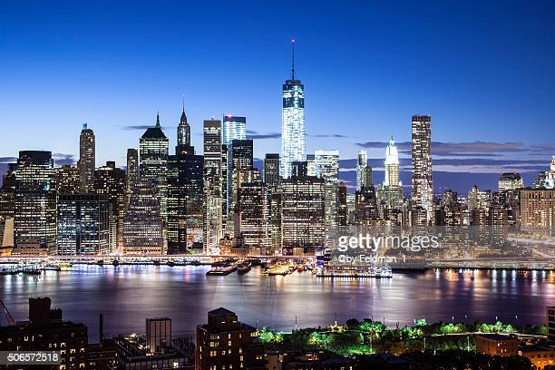 Manhattan Skyline by Night, New York