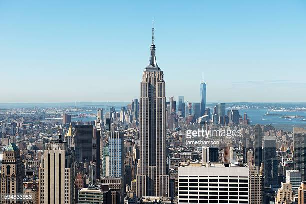 manhattan skyline, new york, usa - empire state building stock pictures, royalty-free photos & images