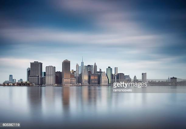 Manhattan skyline seen from Brooklyn, New York, America, USA
