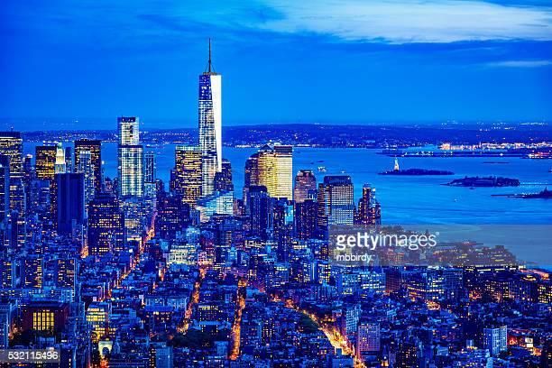 Manhattan skyline with One World Trade Center, New York