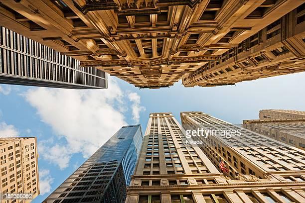 Manhattan Skyscrapers from below