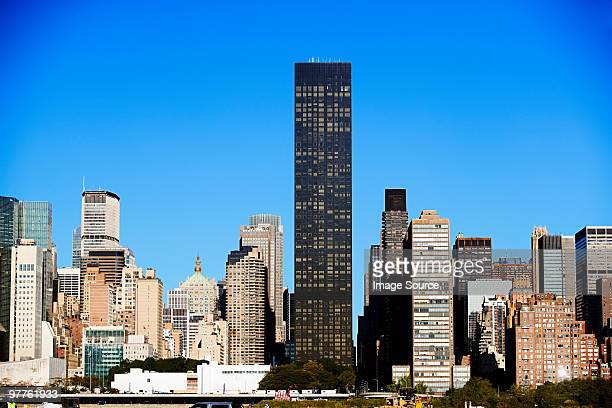 manhattan skyscrapers - trump tower stock photos and pictures