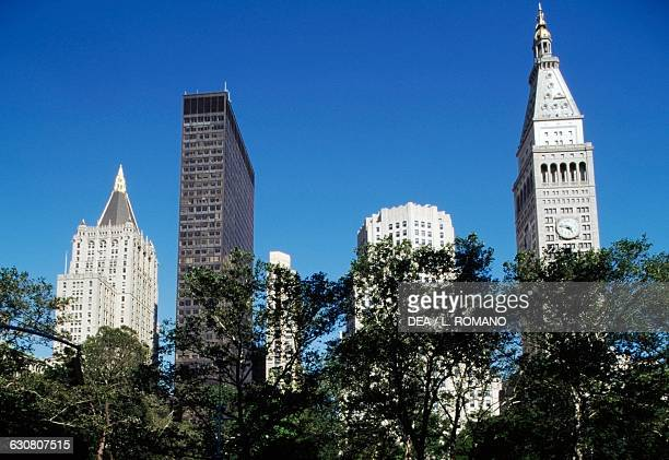 Manhattan skyscrapers the Metropolitan Life Insurance Company Tower on the right New York United States of America