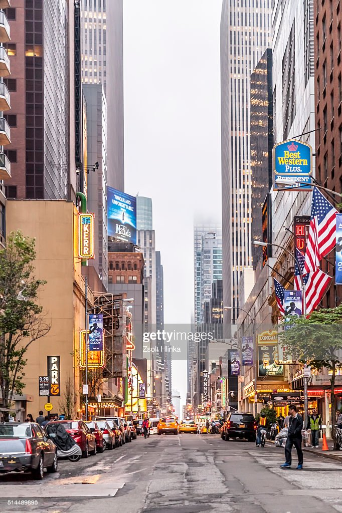 Manhattan Street View Stock Photo