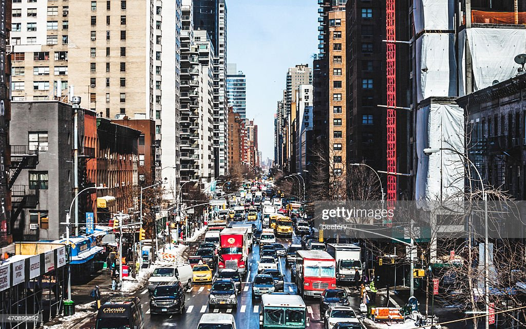 Manhattan streets, Upper East Side. : Stock Photo