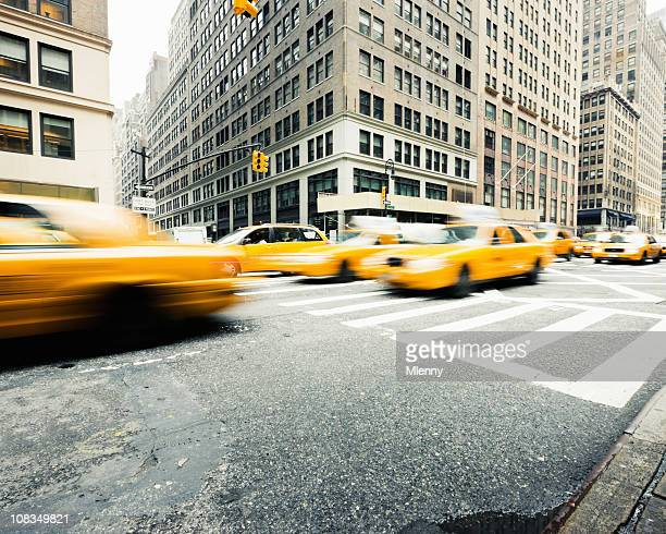 Manhattan Taxi Traffic New York City