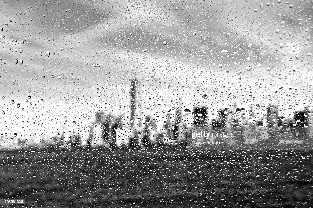 Manhattan under drops : Stockfoto