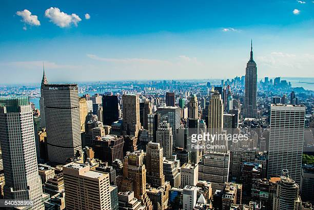 manhattan view - metlife building stock pictures, royalty-free photos & images