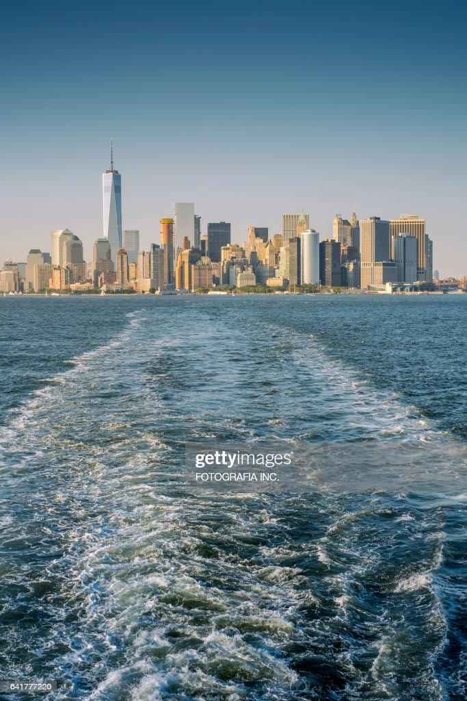 Manhattan water view : Stock Photo