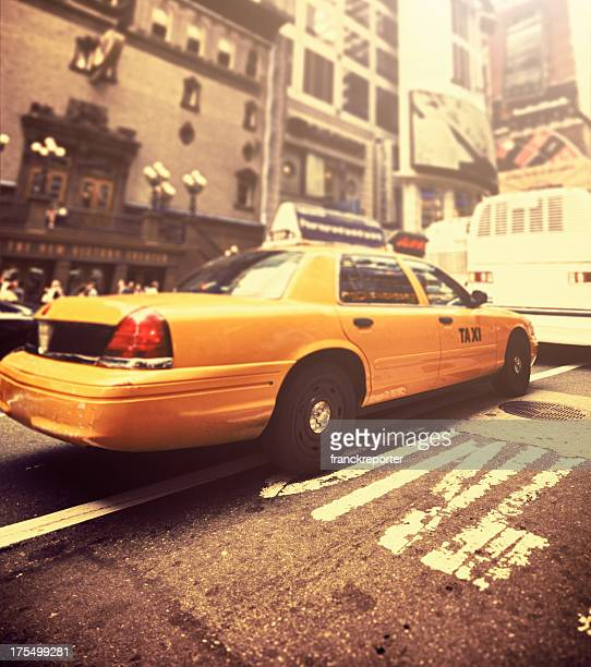 Manhattan yellow cab taxi times square - NYC