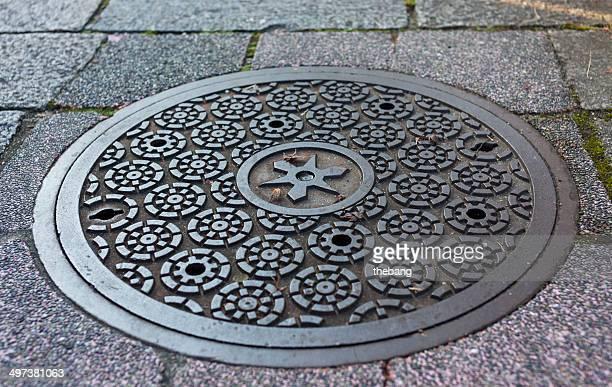 Manhole cover, Osaka japan