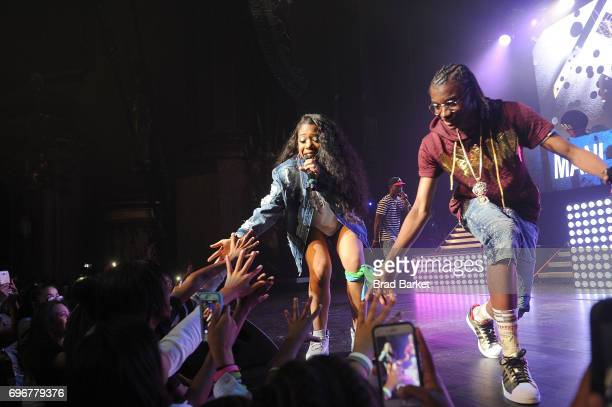 Mani and Deetranada perform at Jermaine Dupri presents SoSoSummer 17 Tour at The Beacon Theatre on June 16 2017 in New York City