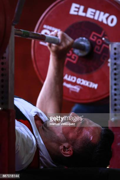 Mani Debashi of Iran competes during the Men's Up to 49Kg Group A Category as part of day 3 of the World Para Powerlifting Championship Mexico 2017...