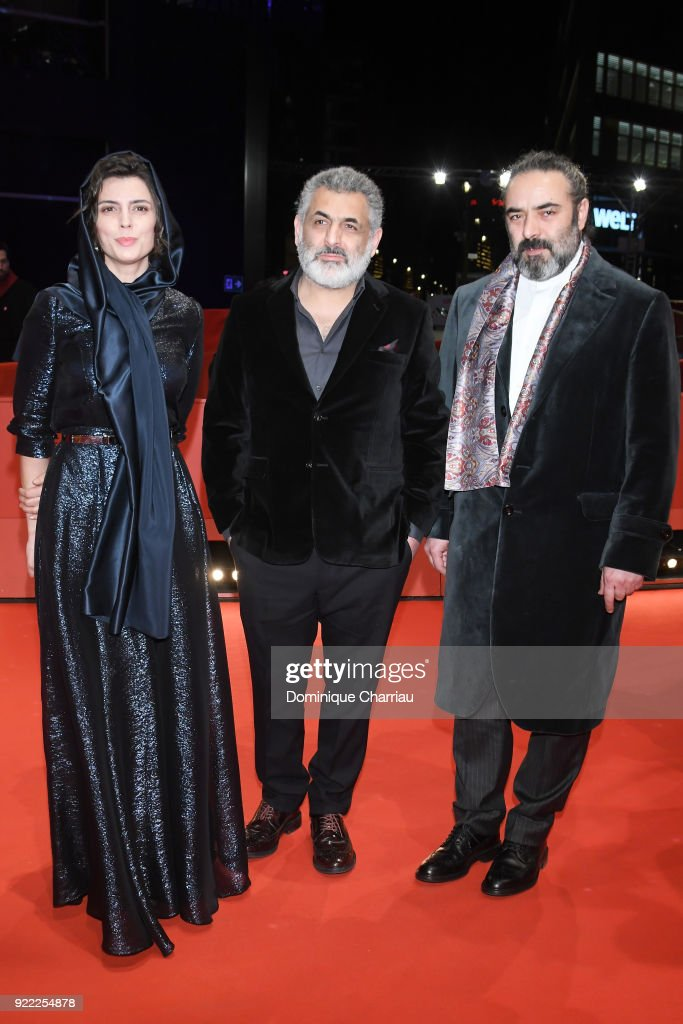 Mani Haghighi, Leila Hatami and Hasan Majuni attend the 'Pig' (Khook) premiere during the 68th Berlinale International Film Festival Berlin at Berlinale Palast on February 21, 2018 in Berlin, Germany.