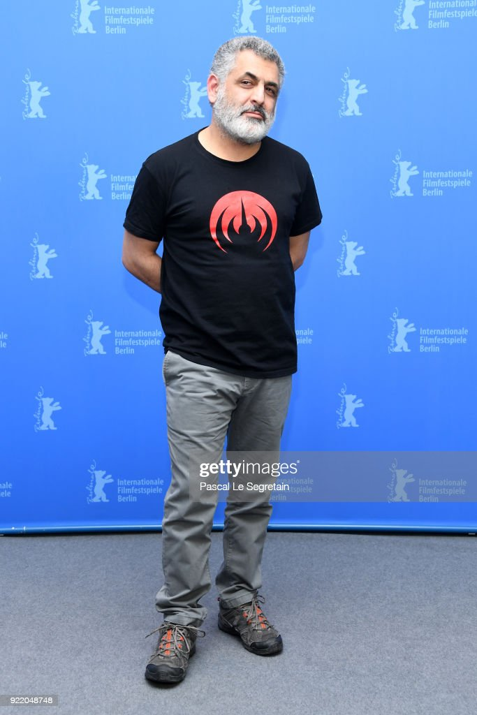 Mani Haghighi poses at the 'Pig' (Khook) photo call during the 68th Berlinale International Film Festival Berlin at Grand Hyatt Hotel on February 21, 2018 in Berlin, Germany.