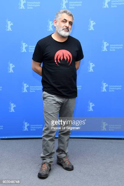 Mani Haghighi poses at the 'Pig' photo call during the 68th Berlinale International Film Festival Berlin at Grand Hyatt Hotel on February 21 2018 in...