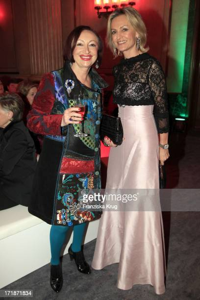 Mania Feilcke And Sigrid Streletzki In The Fashion Gala Russian Spring in Berlin In The Embassy Of The Russian Federation in Berlin