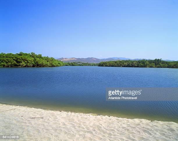 manialtepec lagoon in oaxaca - lagoon stock pictures, royalty-free photos & images