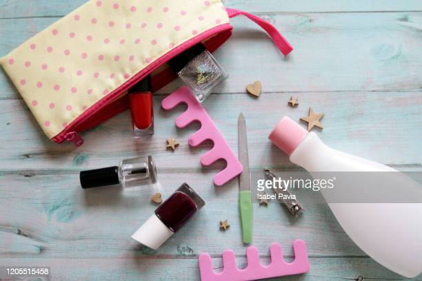 manicure set - toiletries stock pictures, royalty-free photos & images