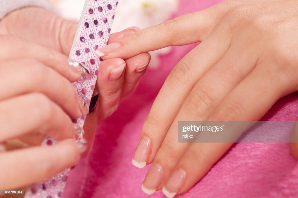 Manicure treatment : Stock Photo