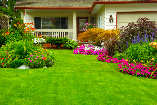 Manicured House and Garden 149360161
