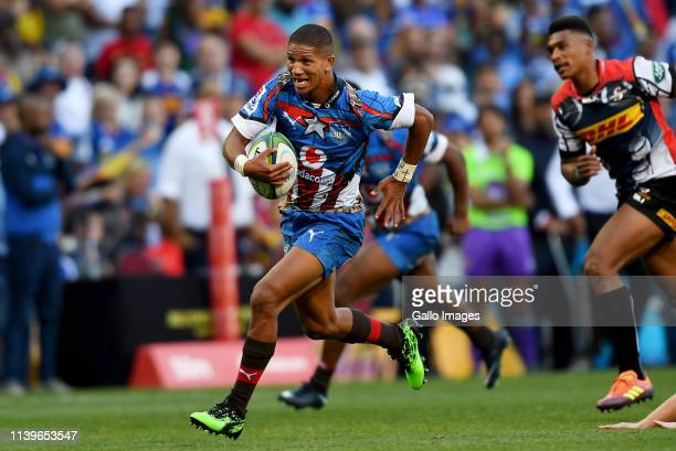 Manie Libbok of the Vodacom Bulls during the Super Rugby match between DHL Stormers and Vodacom Bulls at DHL Newlands on April 27 2019 in Cape Town...