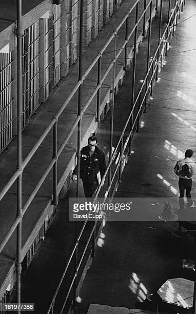 FEB 27 1974 APR 25 1974 APR 26 1974 Manier who is free to room most parts of the prison to help other inmates with legal problems walks along the...