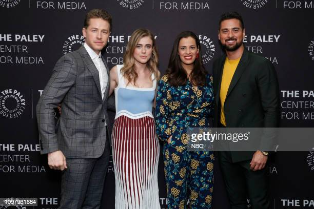 MANIFEST 'Manifest' Panel at Paley Live in New York City Pictured Josh Dallas Melissa Roxburgh Athena Karkanis JR Ramirez