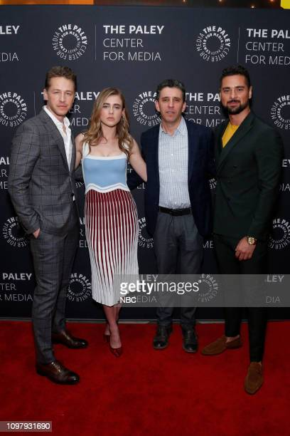 Manifest' Panel at Paley Live! in New York City -- Pictured: Josh Dallas, Melissa Roxburgh, Executive Producer Jeff Rake, J.R. Ramirez --