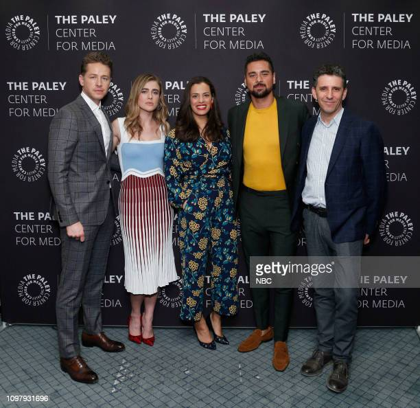 MANIFEST 'Manifest' Panel at Paley Live in New York City Pictured Josh Dallas Melissa Roxburgh Athena Karkanis JR Ramirez Executive Producer Jeff Rake