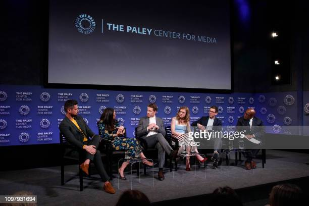 MANIFEST 'Manifest' Panel at Paley Live in New York City Pictured JR Ramirez Athena Karkanis Josh Dallas Melissa Roxburgh Executive Producer Jeff...