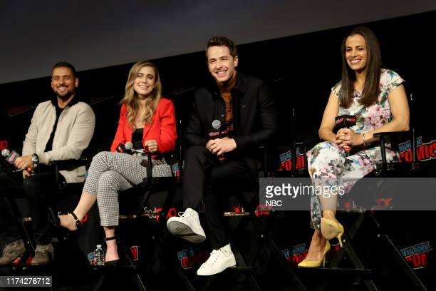 CON Manifest Panel Pictured JR Ramirez Melissa Roxburgh Josh Dallas Athena Karkanis