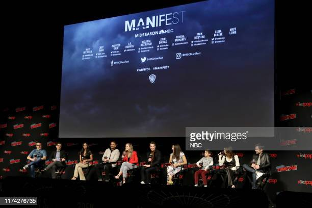 CON Manifest Panel Pictured Matt Mitovich Moderator Jeff Rake Executive Producer Parveen Kaur JR Ramirez Melissa Roxburgh Josh Dallas Athena Karkanis...