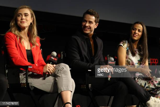 CON Manifest Panel Pictured Melissa Roxburgh Josh Dallas Athena Karkanis