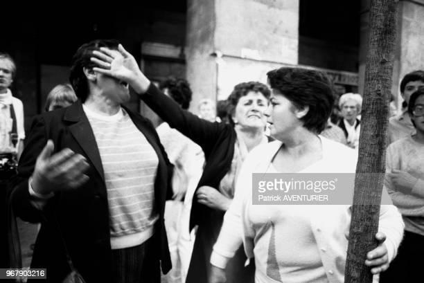 Manifestation de l'ETA le 26 septembre 1984 à San Sebastian Espagne