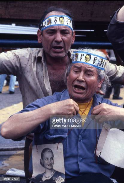Manifestation de partisans de Juan Peron en Argentine