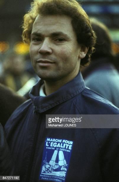 Manifestation des immigres contre le racisme et pour l'egalite le 3 decembre 1983 a Paris France