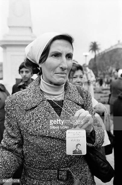 Manifestation des 'Mères de la place de Mai' à Buenos Aires Argentine le 10 juin 1978