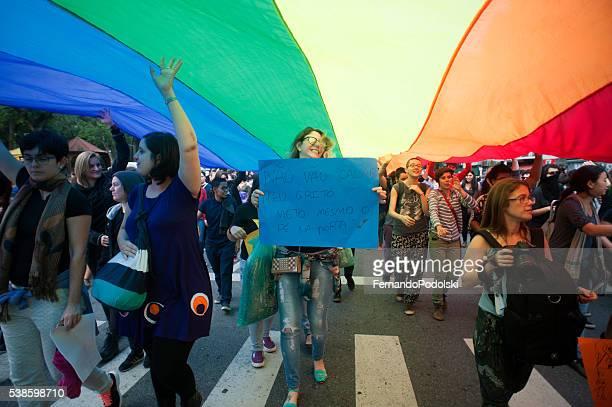 Manifestation de Gay femmes