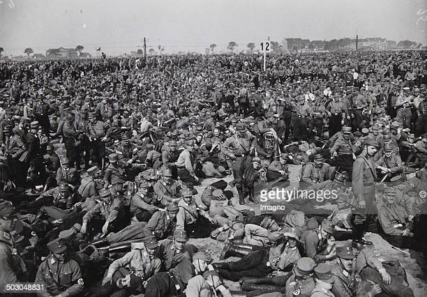 Manifestation of the Nazis in front of the Schlageter memorial on the Golzheimer Heide / Dusseldorf May 29th of 1933 Photograph