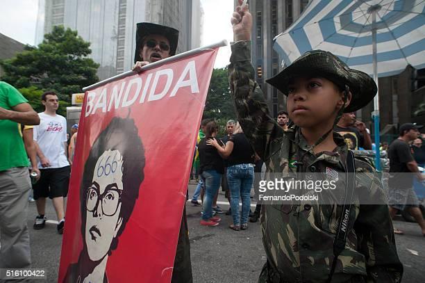 manifestazione paramilitari in brasile - estremismo foto e immagini stock