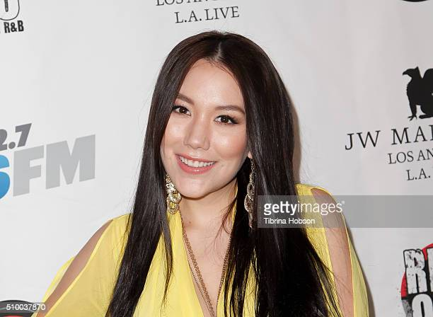 Manika attends Alt 987 1027 KIIS FM and REAL 923's 2016 GRAMMY Awards celebration at The Mixing Room at the JW Marriot Los Angeles on February 12...
