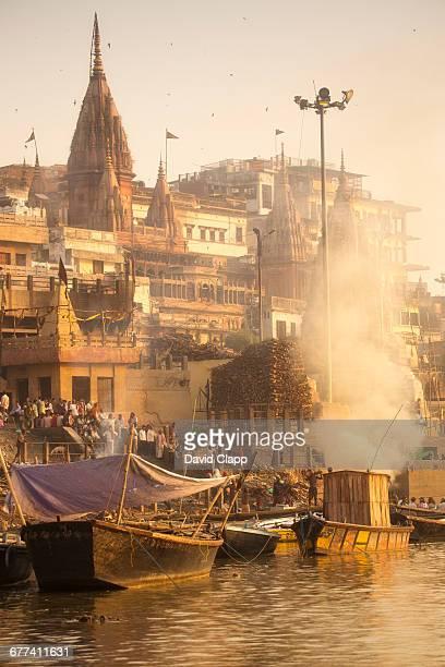 Manikarnika Ghat, in Varanasi, India