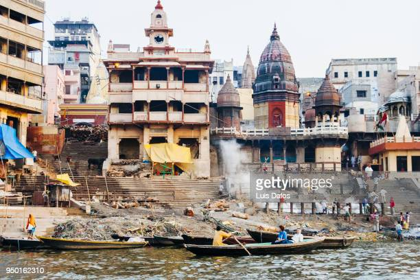manikarnika ghat - ganges river stock pictures, royalty-free photos & images