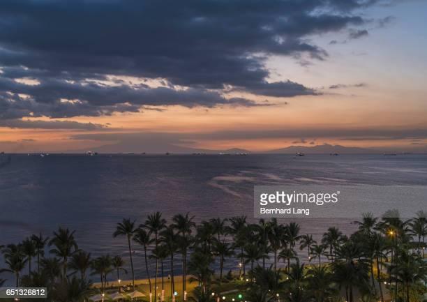 Manila bay at dusk, Philippines